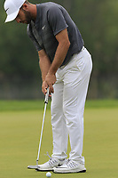 Romain Wattel (FRA) putts on the 12th green during Saturday's Round 3 of the Porsche European Open 2018 held at Green Eagle Golf Courses, Hamburg Germany. 28th July 2018.<br /> Picture: Eoin Clarke | Golffile<br /> <br /> <br /> All photos usage must carry mandatory copyright credit (&copy; Golffile | Eoin Clarke)
