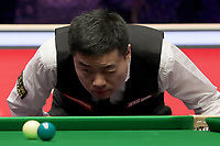 12th January 2020, Alexandra palace, London, United Kingdom; Ding Junhui of China looks across the table the round 1 match between Ding Junhui of China and Joe Perry of England at Snooker Masters 2020 at the Alexandra Palace . Perry won 6 frames to 3.