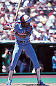 Montreal Expos Andre Dawson (10) in action during a game from 1983 against the Philadelphia Phillies at Veterans Stadium in Philadelphia, Pennsylvania. Andre Dawson played for 21 years with 4 different teams and was inducted to the Baseball Hall of Fame in 2010.