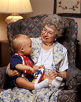 Grandmother with young grandson.