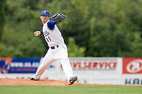 BASEBALL - GREEN ROLLER PARK - PRAGUE (CZECH REPUBLIC) - 25/06/2008 - PHOTO: CHRISTOPHE ELISE.PITCHER MATTHIEU BRELLE ANDRADE (TEAM FRANCE)
