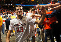Virginia guard London Perrantes (23) during the game Saturday, February 22, 2014,  in Charlottesville, VA. Virginia won 70-49.