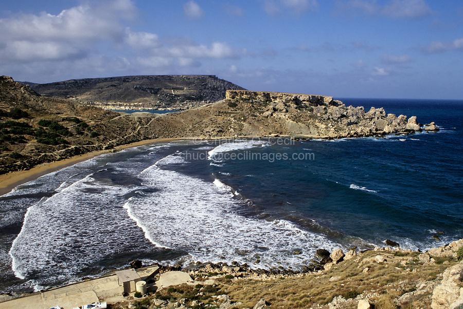 Ghajn Tufieha Bay, Malta.