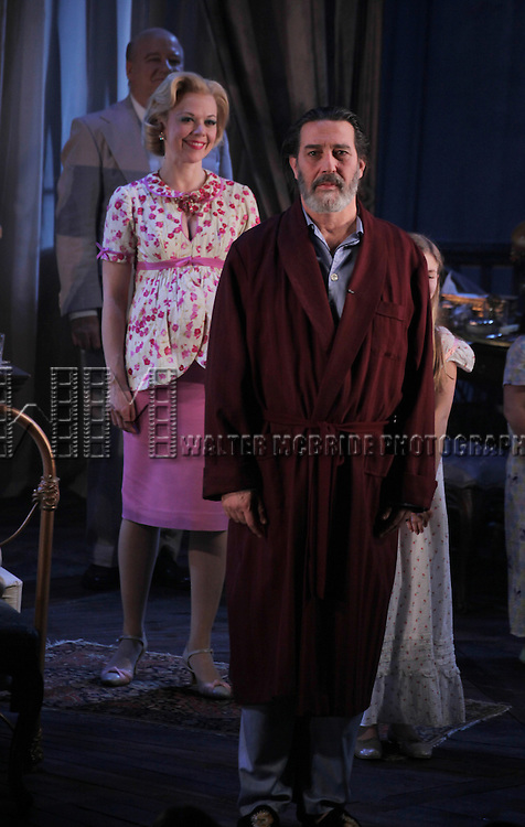 Emily Bergl & Ciaran Hinds during the Broadway Opening Night Performance Curtain Call for 'Cat On A Hot Tin Roof' at the Richard Rodgers Theatre in New York City on 1/17/2013