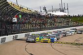 #51: Chandler Smith, Kyle Busch Motorsports, Toyota Tundra Toyota Safelite AutoGlass takes the green flag