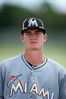 GCL Marlins pitcher Andrew Heaney #19 poses for a head shot after a Gulf Coast League game against the GCL Cardinals at Roger Dean Stadium on July 21, 2012 in Jupiter, Florida.  GCL Cardinals defeated the GCL Marlins 10-1.  (Mike Janes/Four Seam Images)