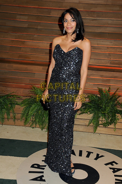 02 March 2014 - West Hollywood, California - Rosario Dawson. 2014 Vanity Fair Oscar Party following the 86th Academy Awards held at Sunset Plaza. <br /> CAP/ADM/BP<br /> &copy;Byron Purvis/AdMedia/Capital Pictures