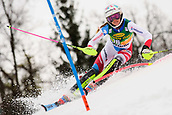 2nd February 2019, Maribor, Slovenia;  Aline Danioth of Switzerland in action during the Audi FIS Alpine Ski World Cup Women's Slalom Golden Fox on February 2, 2019 in Maribor, Slovenia