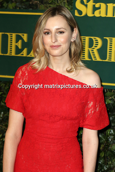 NON EXCLUSIVE PICTURE: MATRIXPICTURES.CO.UK<br /> PLEASE CREDIT ALL USES<br /> <br /> WORLD RIGHTS<br /> <br /> Laura Carmichael attends the Evening Standard Theatre Awards 2017 at Theatre Royal, Drury Lane in London. <br /> <br /> DECEMBER 3rd 2017<br /> <br /> REF: MES 172784