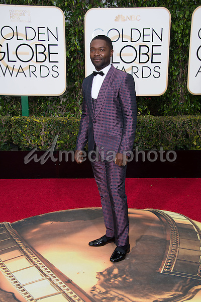 "David Oyelowo, Golden Globe nominee for BEST PERFORMANCE BY AN ACTOR IN A MINI-SERIES OR MOTION PICTURE MADE FOR TELEVISION for his role in ""Nightingale,"" arrives at the 73rd Annual Golden Globe Awards at the Beverly Hilton in Beverly Hills, CA on Sunday, January 10, 2016. Photo Credit: HFPA/AdMedia"