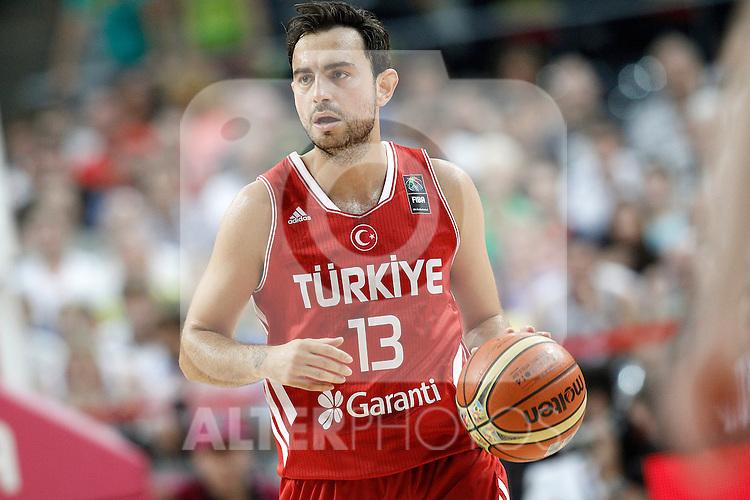 Turkey's Ender Arslan during 2014 FIBA Basketball World Cup Quarter-Finals match.September 9,2014.(ALTERPHOTOS/Acero)