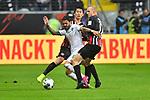 06.10.2019, Commerzbankarena, Frankfurt, GER, 1. FBL, Eintracht Frankfurt vs. SV Werder Bremen, <br /> <br /> DFL REGULATIONS PROHIBIT ANY USE OF PHOTOGRAPHS AS IMAGE SEQUENCES AND/OR QUASI-VIDEO.<br /> <br /> im Bild: Leonardo Bittencourt (SV Werder Bremen #10) gegen Sebastian Rode (Eintracht Frankfurt #17) und Daichi Kamada (Eintracht Frankfurt #15)<br /> <br /> Foto © nordphoto / Fabisch