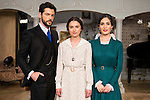 "Angel de Molina, Giulia Charm and Yara Puebla during the presentation of the new characters for the new season of the tv series ""El Secreto de Puente Viejo""  in Madrid, February 10, Madrid. during the presentation of the new characters for the new season of the tv series ""El Secreto de Puente Viejo""  in Madrid, February 10, Madrid."