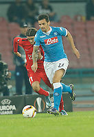 Napoli's Christian Maggio  during the Europa  League Group D soccer match between SSC Napoli and Midtjylland at the San Paolo  Stadium in NaplesNovember 05, 2015
