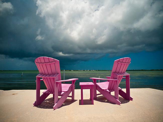 Beach chairs near Big Pine Key, FL