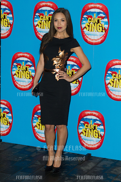 Myleene Klass arriving for the Press Night for I Can't Sing, at the London Palladium. 26/03/2014 Picture by: Dave Norton / Featureflash