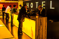 Hotel reception, Dan Panorama Hotel,  Tel Aviv, Israel.