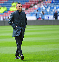 Sheffield Wednesday manager Carlos Carvalhal  during the pre-match warm-up <br /> <br /> Photographer Andrew Vaughan/CameraSport<br /> <br /> The EFL Sky Bet Championship Play-Off Semi Final First Leg - Huddersfield Town v Sheffield Wednesday - Saturday 13th May 2017 - The John Smith's Stadium - Huddersfield<br /> <br /> World Copyright &copy; 2017 CameraSport. All rights reserved. 43 Linden Ave. Countesthorpe. Leicester. England. LE8 5PG - Tel: +44 (0) 116 277 4147 - admin@camerasport.com - www.camerasport.com