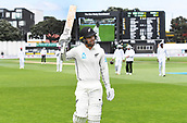 3rd December 2017, Wellington, New Zealand;  Tom Blundell celebrates his century on debut.Day 3. New Zealand Black Caps v West Indies. 1st test match of the ANZ International Cricket Season 2017/18 season. Basin Reserve, Wellington
