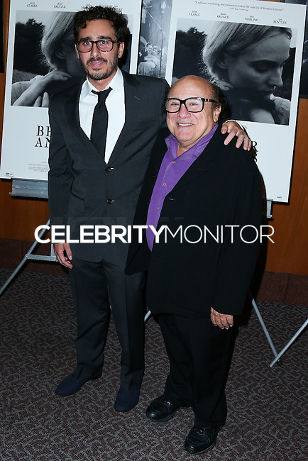 LOS ANGELES, CA, USA - OCTOBER 27: Daniel J. DeVito, Jake DeVito, Danny DeVito arrive at the Los Angeles Premiere Of Amplify's 'The Better Angels' held at the Directors Guild Of America on October 27, 2014 in Los Angeles, California, United States. (Photo by Xavier Collin/Celebrity Monitor)