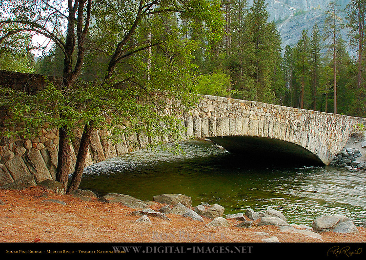Sugar Pine Bridge, Kenneyville Bridge No. 2, Merced River, North Pines, Yosemite National Park