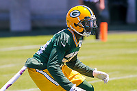Green Bay Packers cornerback Josh Hawkins (28) during an OTA on June 1, 2017 at Clark Hinkle Field in Green Bay, Wisconsin. (Brad Krause/Krause Sports Photography)