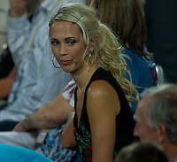 BEC HEWITT watching LLEYTON HEWITT (ESP) against FERNANDO VERDASCO (ESP) in the group stage of the Hopman Cup. Spain beat Australia 6-3 3-6 7-5..01/01/2012, 1st January 2012, 01.01.2012..The HOPMAN CUP, Burswood Dome, Perth, Western Australia, Australia.@AMN IMAGES, Frey, Advantage Media Network, 30, Cleveland Street, London, W1T 4JD .Tel - +44 208 947 0100..email - mfrey@advantagemedianet.com..www.amnimages.photoshelter.com.