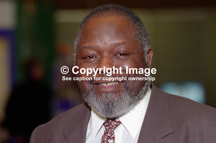 Bernie Grant, MP, UK, Labour Party, 199509041..Copyright Image from Victor Patterson, 54 Dorchester Park, Belfast, UK, BT9 6RJ..Tel: +44 28 9066 1296.Mob: +44 7802 353836.Voicemail +44 20 8816 7153.Skype: victorpattersonbelfast.Email: victorpatterson@me.com.Email: victorpatterson@ireland.com (back-up)..IMPORTANT: If you wish to use this image or any other of my images please go to www.victorpatterson.com and click on the Terms & Conditions. Then contact me by email or phone with the reference number(s) of the image(s) concerned.