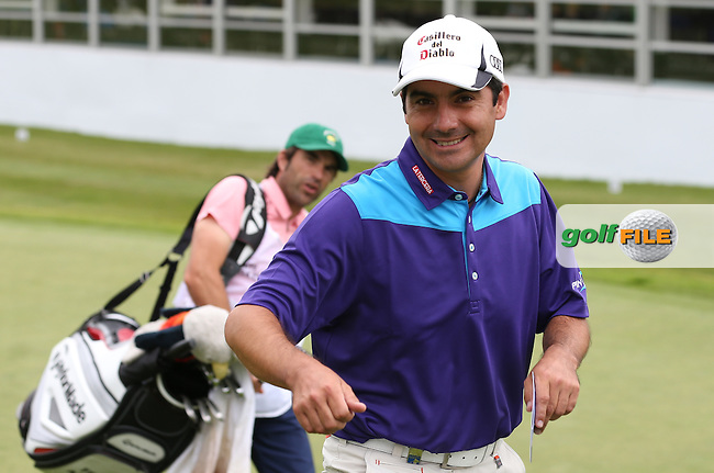 Felipe Aguilar (CHI) enjoying the weekend at during Round Three of the 2015 BMW PGA Championship over the West Course at Wentworth, Virginia Water, London. 23/05/2015. Picture David Lloyd | www.golffile.ie.