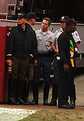 Landover, MD - October 13, 2002 -- Maryland State Police Troopers, Prince Georges County Police, and FedEx Field security scan the stands for any problems during the game between the Redskins and Saints.<br /> Credit: Ron Sachs / CNP                               <br /> (RESTRICTION: NO New York or New Jersey Newspapers or newspapers within a 75 mile radius of New York City)