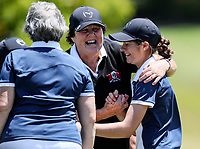 Lily Griffin of Manawatu Wanganui celebrates a win. Day One of the Toro Interprovincial Women's Championship, Sherwood Golf Club, Wjangarei,  New Zealand. Monday 4 December 2017. Photo: Simon Watts/www.bwmedia.co.nz