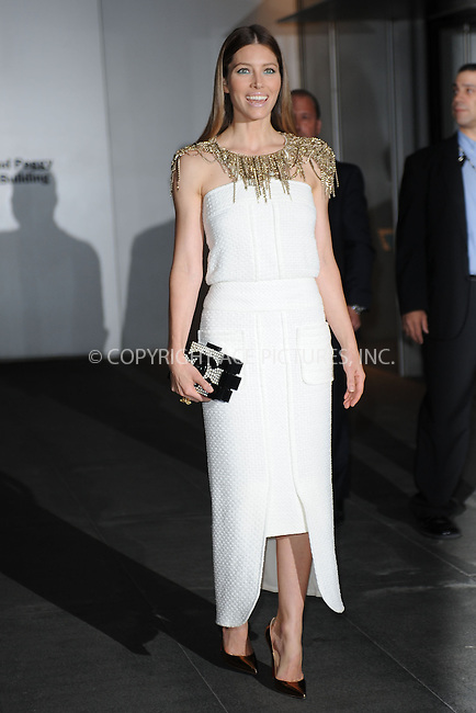 WWW.ACEPIXS.COM<br /> November 5, 2013...New York City<br /> <br /> Jessica Biel attends The Museum of Modern Art Film Benefit: A Tribute to Tilda Swinton reception at Museum of Modern Art on November 5, 2013 in New York City.<br /> <br /> <br /> Byline: Kristin Callahan/Ace Pictures<br /> <br /> ACE Pictures, Inc.<br /> tel: 646 769 0430<br />       212 243 8787<br /> e-mail: info@acepixs.com<br /> web: http://www.acepixs.com