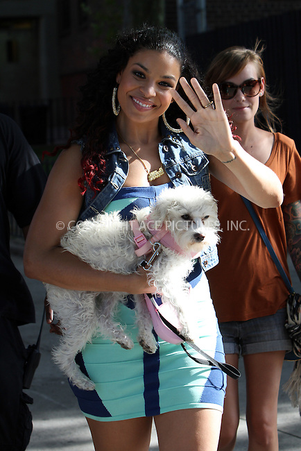 WWW.ACEPIXS.COM....July25 2012, New York City....EXCLUSIVE....Actress Jordin Sparks was on the set of the new movie 'The Inevitable Defeat of Mister and Pete' on July 25 2012 in Brooklyn, New York......By Line: Zelig Shaul/ACE Pictures......ACE Pictures, Inc...tel: 646 769 0430..Email: info@acepixs.com..www.acepixs.com