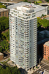 Aerial of the Benson Condos, Portland, Oregon