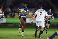 Beno Obano of Bath Rugby receives the ball. Aviva Premiership match, between Worcester Warriors and Bath Rugby on January 5, 2018 at Sixways Stadium in Worcester, England. Photo by: Patrick Khachfe / Onside Images