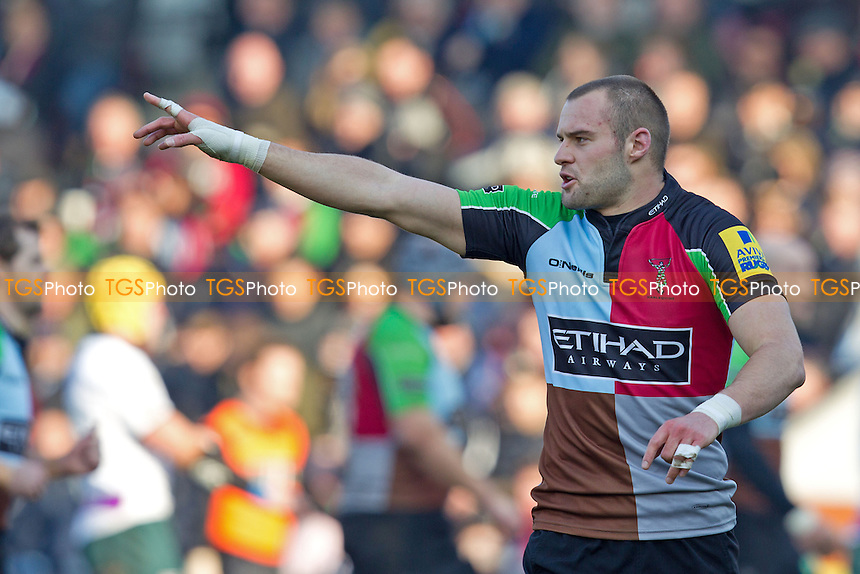 Ross Chisholm of Harlequins RFC - Harlequins RFC vs London Irish RFC - Aviva Premiership Rugby at the Twickenham Stoop - 11/02/12 - MANDATORY CREDIT: Ray Lawrence/TGSPHOTO - Self billing applies where appropriate - 0845 094 6026 - contact@tgsphoto.co.uk - NO UNPAID USE.
