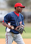 March 22, 2010:  Third Baseman Yeurys Tejeda of the Washington Nationals organization during Spring Training at the Carl Barger Training Complex in Melbourne, FL.  Photo By Mike Janes/Four Seam Images