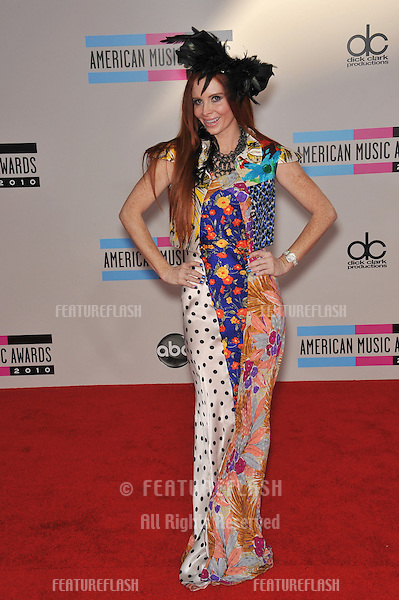 Phoebe Price at the 2010 American Music Awards at the Nokia Theatre L.A. Live in downtown Los Angeles..November 21, 2010  Los Angeles, CA.Picture: Paul Smith / Featureflash