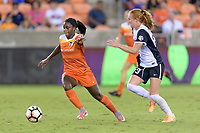 Houston, TX - Saturday July 15, 2017: Nichelle Prince and Tori Huster during a regular season National Women's Soccer League (NWSL) match between the Houston Dash and the Washington Spirit at BBVA Compass Stadium.