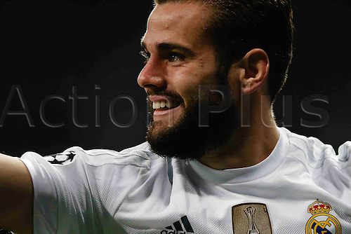 03.11.2015. Madrid, Spain.  Jose I. Fernandez Iglesias (6) Real Madrid celebrates the goal for 1-0 after scoring his team´s goal during the soccer match UCL Champions League between Real Madrid and PSG at the Santiago Bernabeu stadium in Madrid, Spain, November 3, 2015.