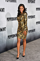 "LOS ANGELES, CA. August 28, 2018: Claudia Jordan at the world premiere of ""Peppermint"" at the Regal LA Live."