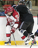 Phil Zielonka (Harvard - 72), Derek Bacon (Bentley - 22) - The Harvard University Crimson defeated the visiting Bentley University Falcons 3-0 on Saturday, October 26, 2013, in Harvard's season opener at Bright-Landry Hockey Center in Cambridge, Massachusetts.