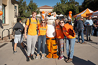 O-Team and Oswald <br /> Explore Occidental - Fall Preview Day, Friday, November 9, 2018.<br /> Fall open house to give prospective students and their families the opportunity to explore Occidental with tours of campus, student and faculty-led discussions, the ability to sit in on a class, and to learn what it means to be an Oxy Tiger.<br /> (Photo by Marc Campos, Occidental College Photographer)