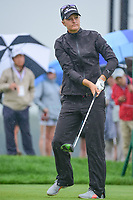 Anna Nordqvist (SWE) watches her tee shot on 10 during Friday's second round of the 72nd U.S. Women's Open Championship, at Trump National Golf Club, Bedminster, New Jersey. 7/14/2017.<br /> Picture: Golffile | Ken Murray<br /> <br /> <br /> All photo usage must carry mandatory copyright credit (&copy; Golffile | Ken Murray)