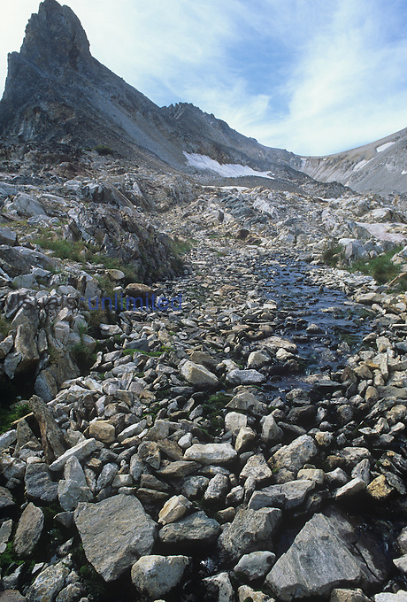Thompson Peak, the highest in the Sawtooth Wilderness, Idaho, USA.