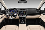 Stock photo of straight dashboard view of a 2017 Subaru Outback Premium 5 Door Wagon