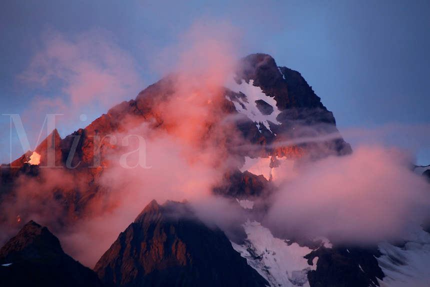 Sunset on Mt. Alice, Chugach National Forest, Alaska.