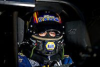 Sept. 5, 2010; Clermont, IN, USA; NHRA funny car driver Ron Capps during qualifying for the U.S. Nationals at O'Reilly Raceway Park at Indianapolis. Mandatory Credit: Mark J. Rebilas-