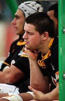 Wellington's Dane Coles (right) and Dan Kirkpatrick watch from the bench during the Air NZ Cup preseason match between Manawatu Turbos and Wellington Lions at FMG Stadium, Palmerston North, New Zealand on Friday, 17 July 2009. Photo: Dave Lintott / lintottphoto.co.nz