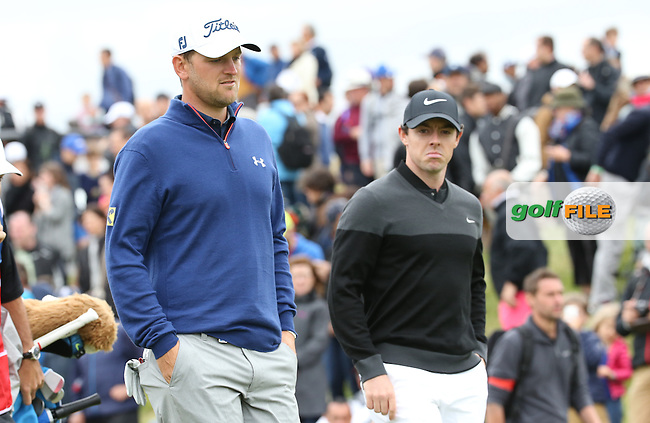Rory McIlroy (NIR) and defending Champion Bernd Wiesberger (AUT) begin the Final Round of the 100th Open de France, played at Le Golf National, Guyancourt, Paris, France. 03/07/2016. Picture: David Lloyd | Golffile.<br /> <br /> All photos usage must carry mandatory copyright credit (&copy; Golffile | David Lloyd)